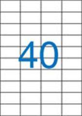 Etiketa, ILC, 52,5x29,7 mm, čtyřřadé, 4000 ks/bal., VICTORIA ,balení 100 ks