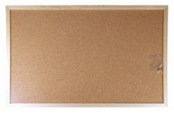 Korková tabule, 60x100cm, dřevěný rám, VICTORIA