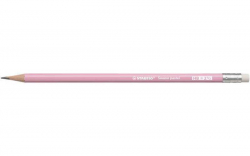 Grafitová tužka s gumou Swano Pastel, růžová, HB, šestihranná, STABILO