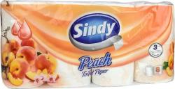 Toaletní papír Sindy, 3-vrstvý, 8 rolí, broskev ,balení 8 ks