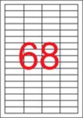 Etiketa, ILC, 48,5x16,9 mm, čtyřřadé, 6800 ks/bal., APLI ,balení 100 ks