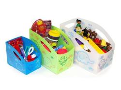 Dětský úložný box L, velký , bílá , PRIMOBAL