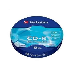 CD-R 700MB, 80min., 52x, DL Extra Protection, Verbatim, 10ks ve fólii ,balení 10 ks