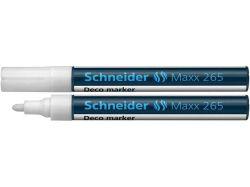 Křídový popisovač Maxx 265, bílá, 2-3mm, tekutý, SCHNEIDER