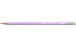 Grafitová tužka s gumou Swano Pastel, fialová, HB, šestihranná, STABILO