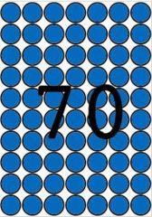 Etikety, kruhové, modrá, průměr 19mm, 560 ks/bal., A5, APLI ,balení 8 ks