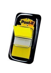 Záložky se zásobníkem, žlutá, 50 listů, 25x43 mm, 3M POSTIT ,balení 50 ks