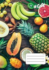 Sešit Juicy fruit, A4, mix motivů, čtverečkovaný, 32 listů, COOL by Victoria