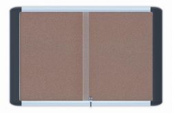 Vitrína, interiérová, korková zadní stěna, 107x82cm, 15xA4