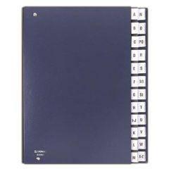 Třídící kniha, tmavě modrá, koženka, A4, A-Z, DONAU