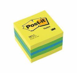 Samolepicí bloček, mix barev, 51x51 mm, 400 listů, 3M POSTIT ,balení 400 ks