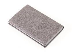 Pouzdro na bankovní karty, šedá, RFID ochrana, koženka, na 10 ks, TROIKA