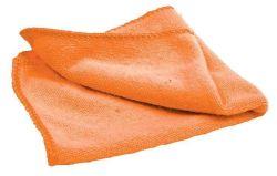 Čistící utěrka z mikrovlákna, oranžová, NOBO