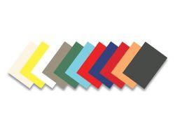 Zadní kryt Delta, pro kroužkovou vazbu, imitace kůže, matný modrý, A4, 250 g, FELLOWES ,balení 100 ks