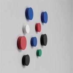 Magnety, černá, 20mm, 8 ks, NOBO ,balení 8 ks