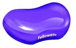 Gelová podložka zápěstí, FELLOWES Crystal Gel, mini, fialová