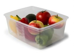Dóza na potraviny s víkem, plast, set 2 ks, 2,5l ,balení 2 ks