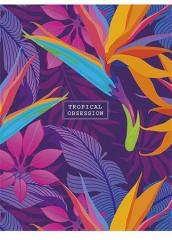 Sešit Tropical obsession, mix motivů, čtverečkovaný, A5, 48 listů, SHKOLYARYK