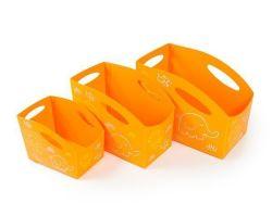 Sada dětských úložných boxů, 3ks (oranžová), PRIMOBAL ,balení 3 ks