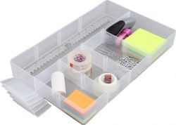 Organizér, plastový, pro 5,5l a 10l boxy, průhledný, ALLSTORE