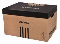 Archivační kontejner, přírodní hnědá, karton, 522x351x305, 60 mm, DONAU ,balení 5 ks