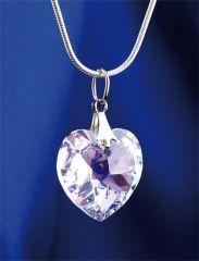 Náhrdelník MADE WITH SWAROVSKI ELEMENTS, krystaly ve tvaru srdce