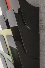 Držák na letáky FLEXIPLUS 6, černá, A4, nástěnný, stojící, DURABLE