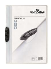 Desky s rychlovazačem Swingclip® 30, černá, s klipem, A4, PP, DURABLE