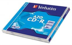 CD-R 700MB, 80min., 52x, DLP Crystal AZO, Verbatim, jewel box