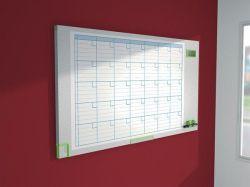 Plánovací tabule Performance Plus, měsíční, smaltovaný povrch, 60x110cm, NOBO