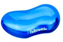 Gelová podložka zápěstí, FELLOWES Crystal Gel, mini, modrá