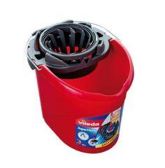 Kbelík se ždímacím košem, VILEDA Supermop, červený