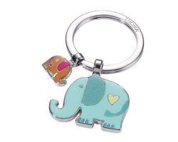 Klíčenka Elephants, barevná, se 2 přívěsky, TROIKA