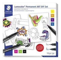 Kreativní sada Lumocolor Permanent ART, samolepky, STAEDTLER 31 SET 2