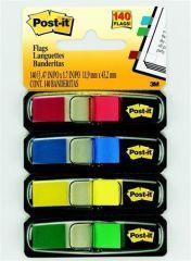 Záložky se zásobníkem, mix barev, 12x43 mm, 4x35 listů, 3M POSTIT ,balení 140 ks