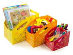 Dětský úložný box L, velký , zelená, PRIMOBAL