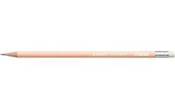 Grafitová tužka s gumou Swano Pastel, broskvová, HB, šestihranná, STABILO