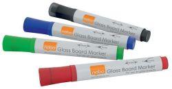 Popisovač na skleněné tabule, mix barev, 4 ks, NOBO