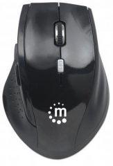 Myš, bezdrátová, optická, standardní vel., MANHATTAN Curve, černá