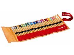 Liner Point 88, 30 barev, 0,4 mm, základní a neonové barvy, rolovací pouzdro, STABILO