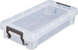 Box, plastový, s víkem, 0,75 l, průhledný, ALLSTORE