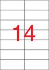 Etiketa, ILC, 105x42,4 mm, dvouřadé, 1400 ks/bal., APLI ,balení 100 ks