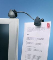 Držák dokumentů, na monitor, KENSINGTON FlexClip