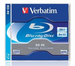 BD-RE Blu-Ray, DL, přepisovatelný, 25GB, 2x, Verbatim, jewel box