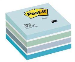 Samolepicí bloček, aquarell modrý, 76x76 mm, 450 listů, 3M POSTIT ,balení 450 ks