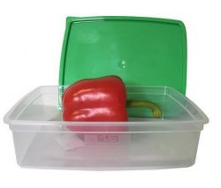 Dóza na potraviny s víkem, plast, set 3 ks, 1,5l ,balení 3 ks