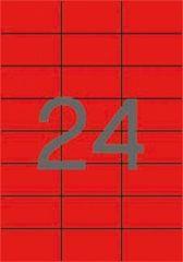 Etiketa, 70 x 37mm, červená, 480 ks/bal., APLI ,balení 20 ks