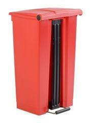 Nášlapný odpadkový koš, červená, 87 l, RUBBERMAID