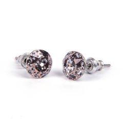 Náušnice SWAROVSKI® Crystals, antická zlatá, 8 mm, ART CRYSTELA