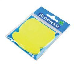 Samolepicí bloček ve tvaru telefonu, 50 lístků, DONAU, žlutý ,balení 50 ks